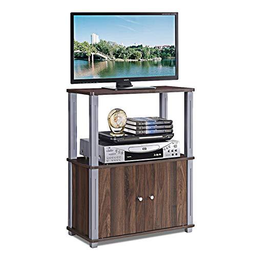 COSTWAY Fernsehtisch, TV Möbel Regal Tisch Schrank, Fernsehschrank, Sideboard für Schlafzimmer, Wohnzimmer (Dunkelbraun)