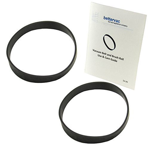 Eureka Bravo, Bravo 2, Airspeed, Litespeed, Whirlwind & Victory Upright Vacuum Belts 2 Pack Bundled With Use & Care Guide