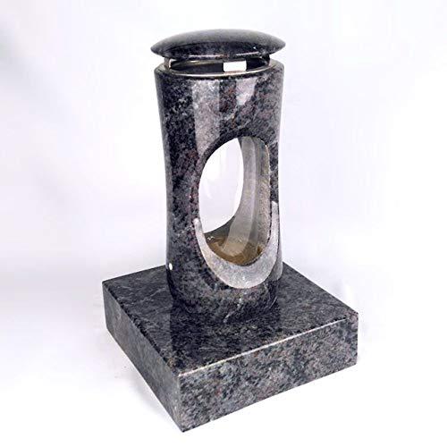 Designgrab Design Petite lampe funéraire avec socle en granit Orion Blue/Vizac Blue