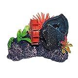 El Tanque del Acuario Ornamento Decoración Azud Erizo de mar Ver Peces Decorativos de Resina Artificial Planta Barco Paisaje Decoración