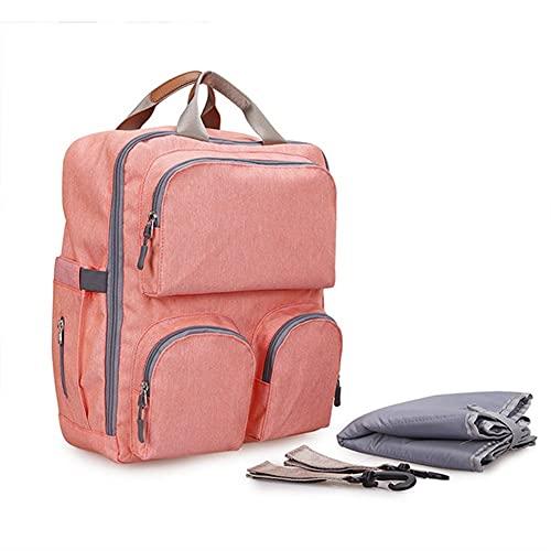 LJHSS Mochilas para Pañales Biberones, Gran Capacidad Bolsa de Cambio de Bebé Bolsa de Viaje Casual Impermeable Mochila para Pañales Bolsas para Picnic, Bolsa de Almuerzo (Color : Pink)