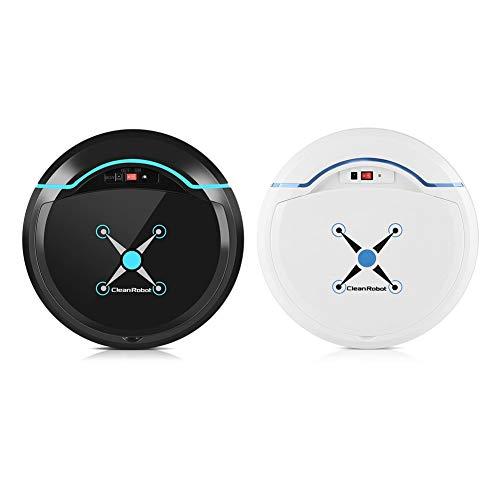 Rrobot Aspiradora - Aspiradora Rrobot, Robot Inteligente Automático para Limpiador de Pisos Barrido USB Recargable (Color : Blanco)