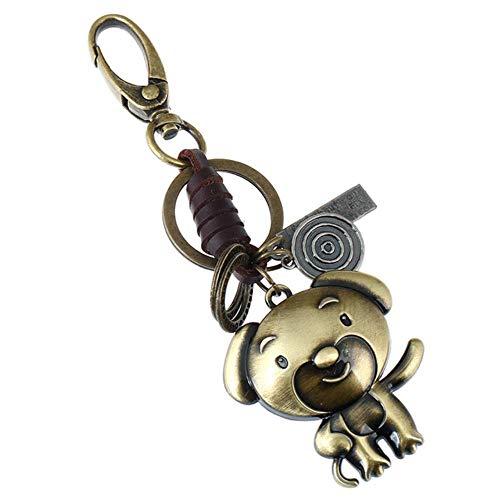 Twaalf sterrenbeelden sleutelhanger lederen legering Chinese dierenriem sleutelhanger sleutelhanger, hond