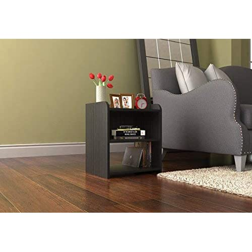Forzza Archie Side Table with Storage (Wenge)