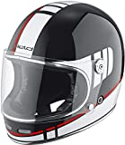 Held Root - Casco de moto decorativo negro/blanco/rojo XS (53/54)