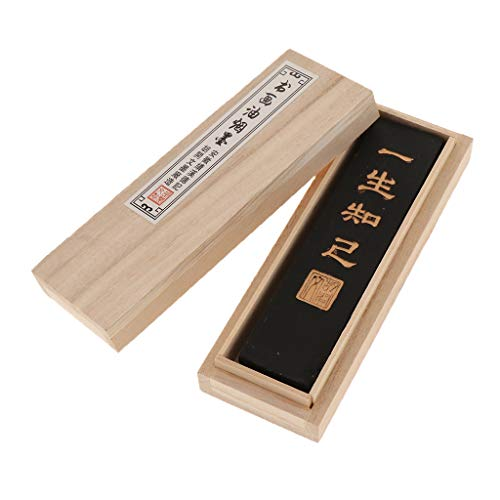 Baoblaze Herramienta De Caligrafía China Tallada con Barra De Tinta - 14.5 * 4 * 1.5cm - Estilo 3 Negro Brillante, Individual