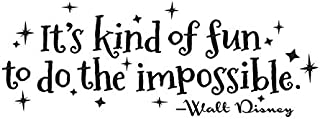 Vertigo Creative Products It's Kind of Fun to Do The Impossible Wall Décor Sticker Vinyl Decal - Walt Disney Quote - 30