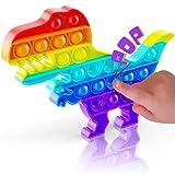 DEZENDO® Pop it Set Fidget Toys | Anti Stress Spielzeug für Jung und Alt | Pop it Dino