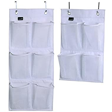 Misslo Over Door Organizer For Closet Pantry Narrow Door, Pack 2, White