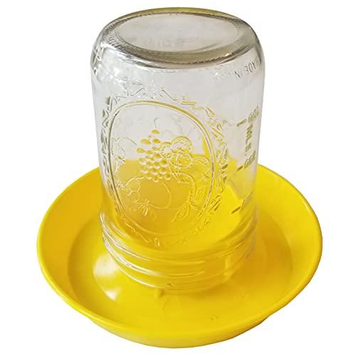Pinnon Hatch Farms Widemouth Chick Waterer (12pk) Yellow Chick Mason Jar Waterer - Jar Not Included