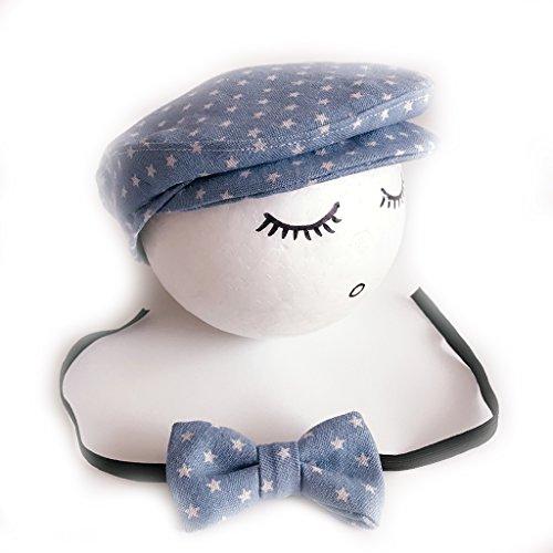 Baby Mütze und Krawatte, gehäkelt, handgefertigt, für Neugeborene blau