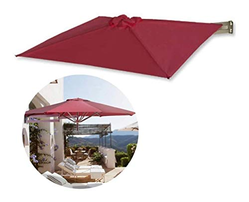 JNWEIYU Sombrilla Jardin Exterior Grande Parasol montado en la Pared en voladizo, de Aluminio Ø 7 pies / 210 cm, Plegable, telescópica, Recreación al Aire Libre Paraguas de Patio/jardín/terraza