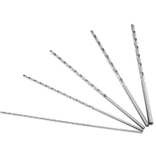 "Neiko 10047A 12"" Extra Long Drill Bit Set, 5 Piece | 1/8', 3/16', 1/4', 5/16', 3/8'"