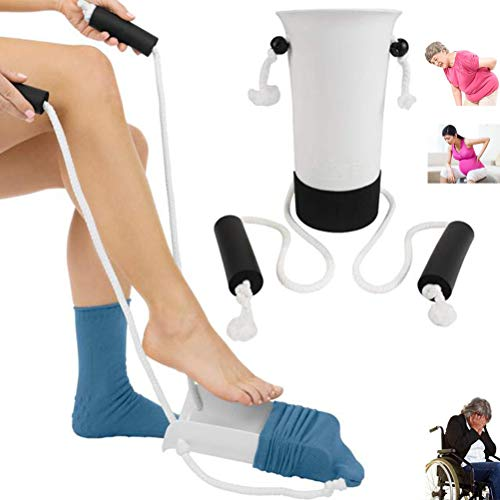 Sock Assist Aid - (No Need To Bend Down) Compression Stocking Slider Helper Tool for Disabled Elder Hip Replacement
