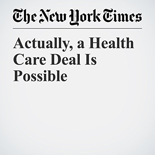 Actually, a Health Care Deal Is Possible copertina
