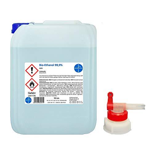 Kamin-Ethanol I Bio-Ethanol 99,9% I 3 x 10 Liter I incl. 1 x AGH I C2H6O I HERRLAN Qualität I Made in Germany