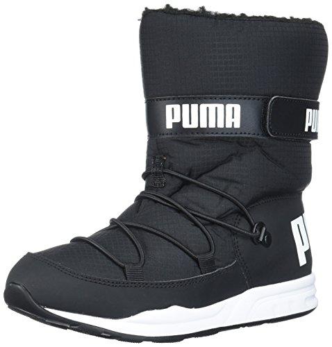 PUMA Unisex-Child Trinomic Boot Fashion Black Black, 3 M US Little Kid