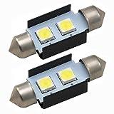 アウディ A4アバント(B8) 8KC LED ナンバー灯 ライセンス灯 SMD 大粒2連 2個 キャンセラー内蔵 ホワイト