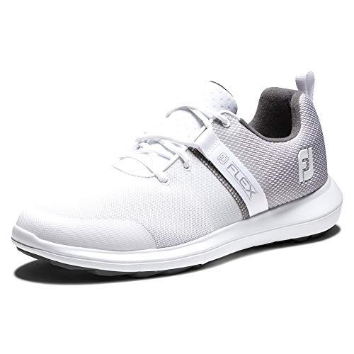 Footjoy Herren Flex Golfschuh, Weiß, Grau, Blau, 44 EU