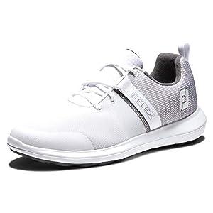 FootJoy Men's FJ Flex Previous Season Style Golf Shoe, White, 10