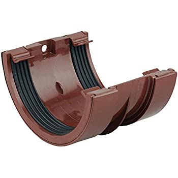 Wavin Osma Roundline Gutter Union 112mm Brown0t009 Amazon Co Uk Diy Tools