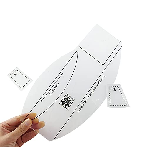 JJyy Plantilla multifuncional de regla de costura de acrílico para coser regla de bricolaje, herramientas de patrón de costura de procesamiento de colcha suministros de costura
