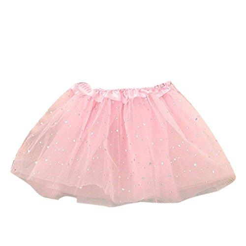 Amlaiworld Vestito per Bambini,Principessa Stelle Paillettes Danza Balletto Tutu gonne (Rosa)