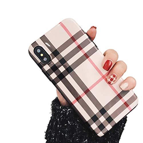 Bakicey iPhone XR hoes, iPhone XR telefoonhoes zacht silicone mode chique beschermhoes bumper cover krasbestendig schokbestendig ultradunne hoes case voor Apple iPhone XR (Classic Plaid)