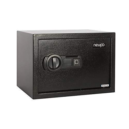 newpo safe | Huella dactilar protegida 250 x 350 x 250 mm | Cajas fuertes de muebles Mini Caja fuerte de acero Caja fuerte de pared