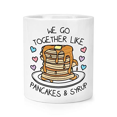 Wir Go Together wie Pfannkuchen & Sirup Make-Up Pinsel Bleistift Topf