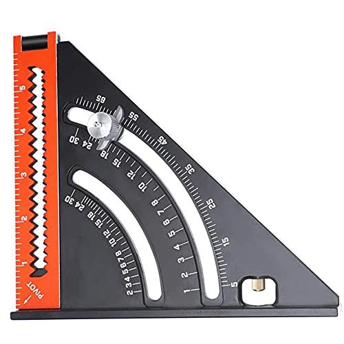 Risegun Regla Plegable - Carpintero Aleación de Aluminio Regla Plegable multifunción/Herramienta de diseño Extensible de Carpintero/Goniómetro de precisión