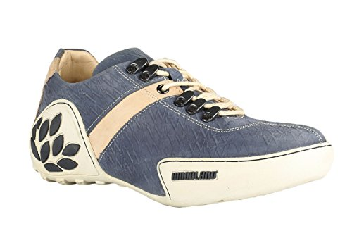 Woodland Men's Denim Leather Sneakers-9 UK/India (43 EU) (GC 1120111CMA)