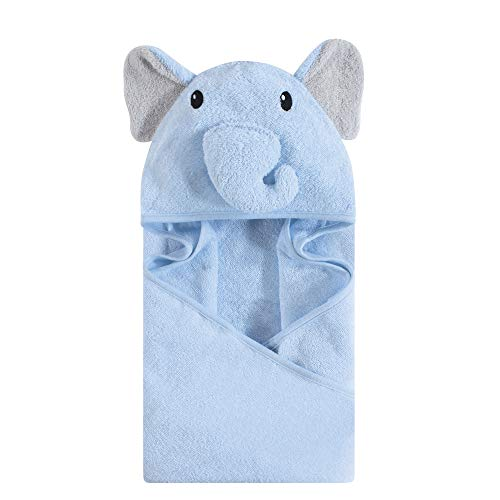 Hudson Baby Unisex Baby Cotton Animal Face Hooded Towel,...