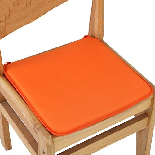 RUIYELE 6 cuscini per sedia da pranzo con cravatte, 40 x 40 cm, antiscivolo, per sedie da pranzo, cucina, da pranzo, cuscino morbido per sedia, forma quadrata, colore: arancione