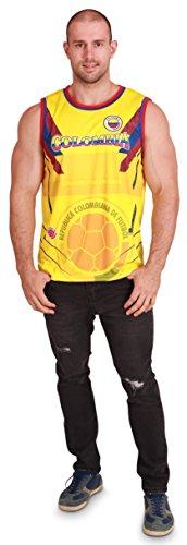 Men's Colombia World Cup 2018 Tank Top Soccer Jersey, Men Size L