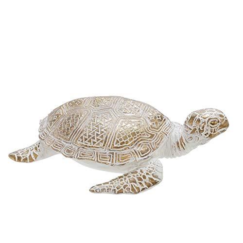 Schildkröten-Figur, Polyresin, 22,9 cm, Weiß