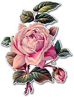 Vintage Rose Beautiful Vinyl Sticker - SELECT SIZE