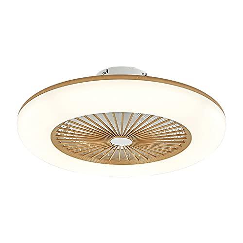 Allamp Luces de Techo LED Regulables Ventilador de Velocidad del Viento Ajustable con Control Remoto 36W Lámpara de Techo LED Moderna Lámpara de Techo Iluminación Interior