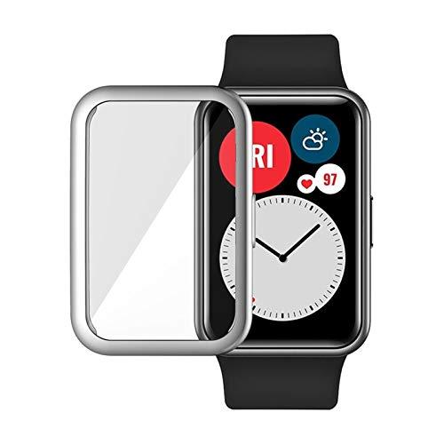 LLMXFC Caso Protector + Correa para Reloj Huawei Fit Relojes Inteligentes Tapa Completa Protector de Pantalla Película Película Pulsera Pulsera Accesorios