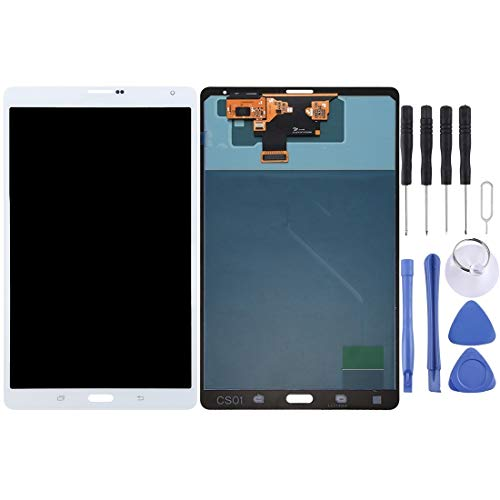 CHEZHAN -LCD Screen and Digitizer Full Assembly for Galaxy Tab S 8.4 LTE / T705(Black) (Color : White)
