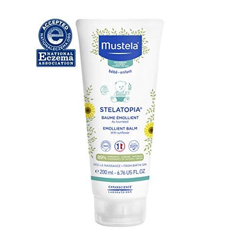Mustela Stelatopia - Emollient Balm - Rich Daily Baby Cream - For Eczema-Prone Skin - with Natural Avocado & Sunflower - Fragrance Free - 6.76 fl. Oz