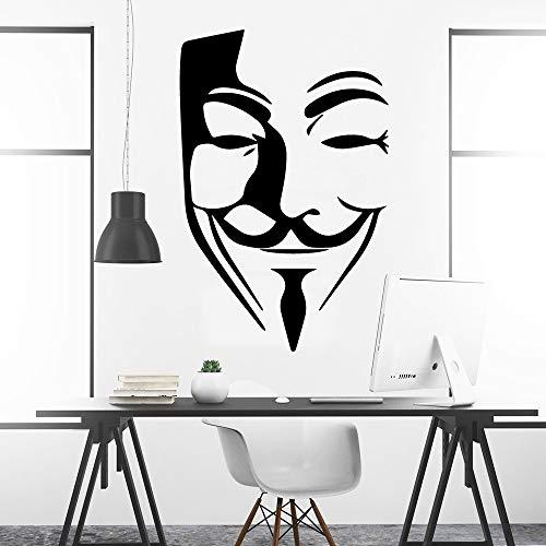 Tianpengyuanshuai Klassische Vendetta Wandaufkleber Abnehmbare Wohnzimmer Kinderzimmer Dekoration 63X64.5cm