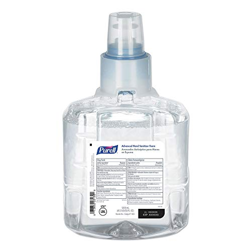 Purell LTX Advanced Instant Hand Sanitizer Foam Refill, 40.5 Oz, Pack of 2