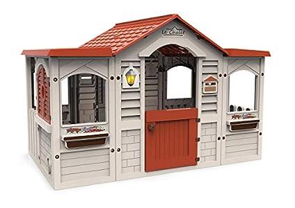 Chicos Casita Infantil de Exterior Le Chalet, Color Beige con tejado Rojo (La Fábrica de Juguetes 89650)