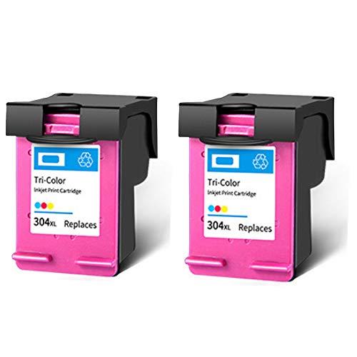 Cartucho De Tinta 304XL,reemplazo De Alto Rendimiento Para HP DeskJet 3720 3730 2620 2621 2630 2632 Amp 100 120 125 Envy 5020 5030 Impresora De Inyección De Tinta Ne 2 Tri-Color