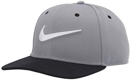 Nike - Gorra unisex para adulto unisex - 639534, Unisex Nike Sportswear Pro Swoosh Classic Sombrero, Talla única, Gris Partícula