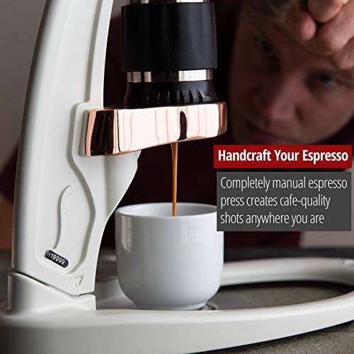 Flair Signature Espresso Maker - An all manual espresso press to handcraft espresso at home (Pressure Kit, White)