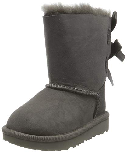 UGG Bailey Bow II, Classic Boot Niñas, Grey, 31 EU