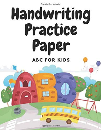 handwriting practice paper for abc kids 150 pages: Blank double lines with a dotted line down the middle paper workbook for adults, students and kids, Size 8.5