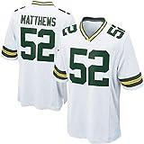 # 52 Matthews, Sudadera de Rugby Running Competencia Traje de Entrenamiento Jersey Jersey Traje Camiseta Bordado Real Jersey S-3XL-White-S